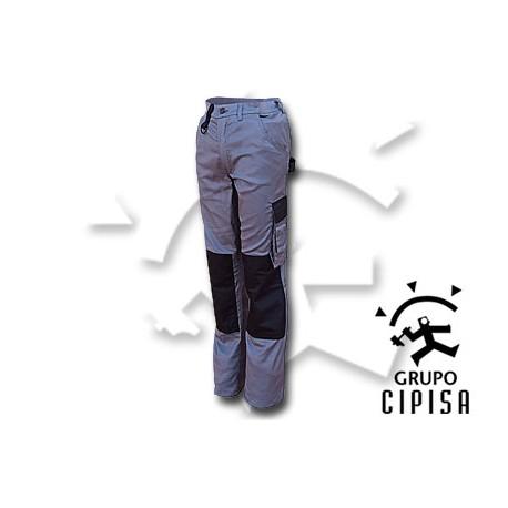 Pantalón elástico combinado multibolsillos